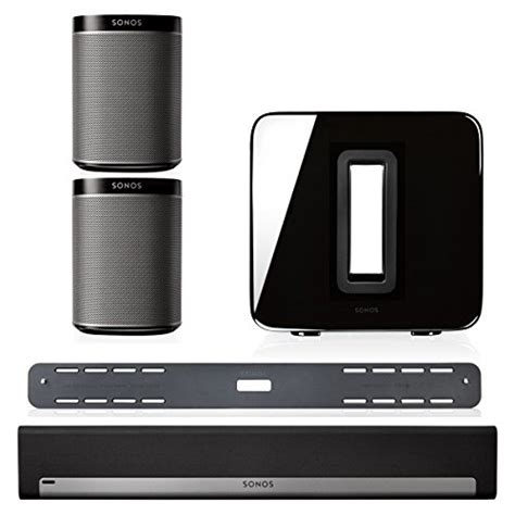 sonos 5 1 home theater system bundle playbar wall mount