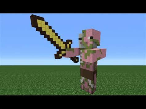 minecraft tutorial zombie statue minecraft tutorial how to make a zombie pigman statue