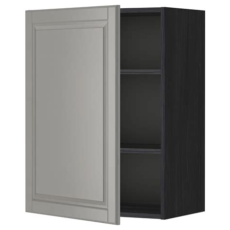 ikea wall cabinets metod wall cabinet with shelves black bodbyn grey 60x80 cm