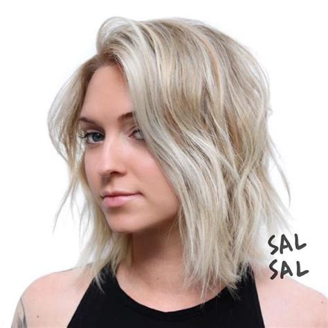how to cut a shaggy bob for round face 30 stunning medium hairstyles for round faces