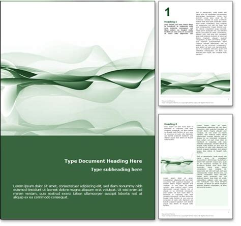 microsoft word document templates royalty free abstract microsoft word template in green