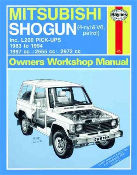 what is the best auto repair manual 1994 ford e series parking system mitsubishi pajero triton l200 pick ups 1983 1994 sagin workshop car manuals repair books