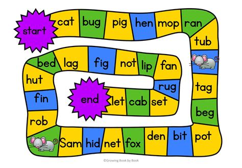printable phonics card games 3 free printable cvc word games