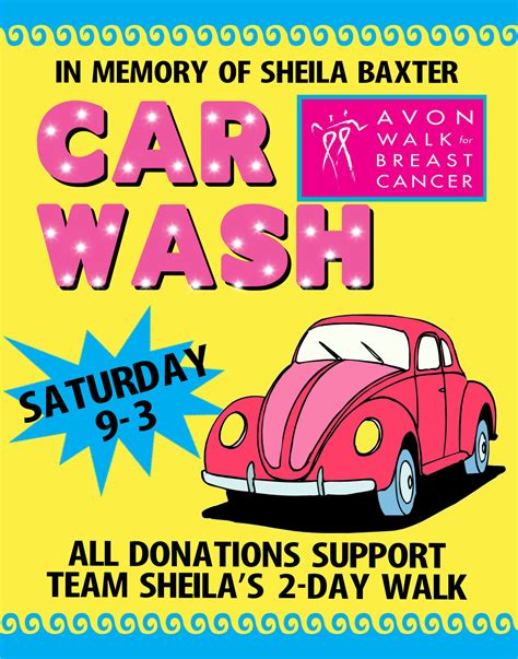 car wash poster template free make a car wash poster charity event fundraiser poster ideas