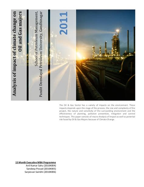 Acton Mba Review by Implication Of And Gas Investment In