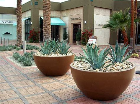 large  fiberglass planter palm springs area rangoon