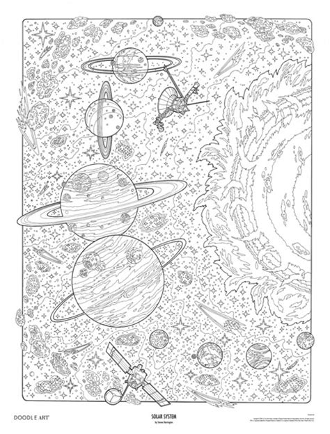 anti stress colouring book for adults brain science solar system doodle colouring poster this was