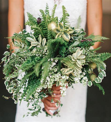 Wedding Bouquet Ferns by Modern Wedding Inspiration With Lots Of Ferns Green