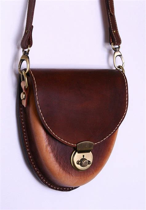 Leather Handmade - handmade leather bag acorn model by jeanraval on deviantart