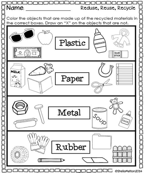 kindergarten activities recycling reduce reuse recycle reuse activities and earth
