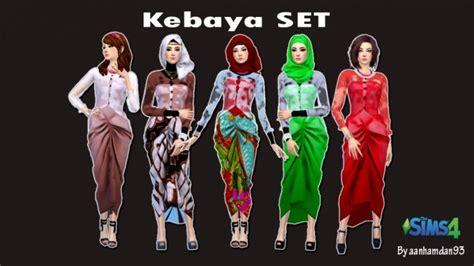Set Kebaya Dress kebaya set dress gloves at aan hamdan simmer93 187 sims 4