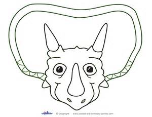 dinosaur mask template free coloring pages of dinosaur cutouts
