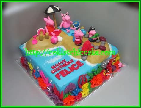 membuat kue ulang tahun fondant cake peppa the pig felice jual kue ulang tahun