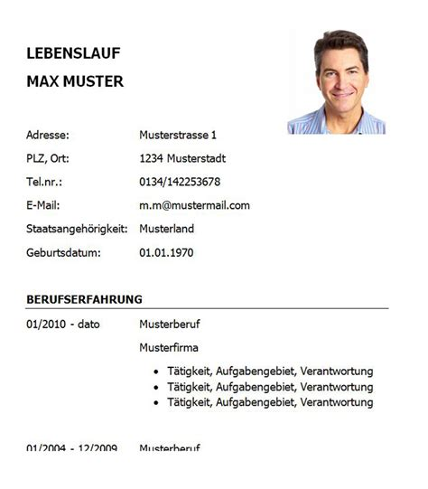 Lebenslauf Muster Manager Lebenslauf Vorlage Key Account Manager Bzw Key Account Managerin