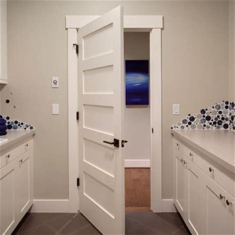 Craftsman Interior Trim Ideas by Interior Craftsman Trim Design With 5 Panel Door And Rubbed Bronze Hardware New House
