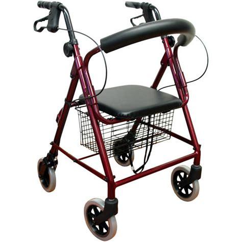 Tongkat Walker Walker Tongkat New lightweight folding rollator 4 wheel walker mobility