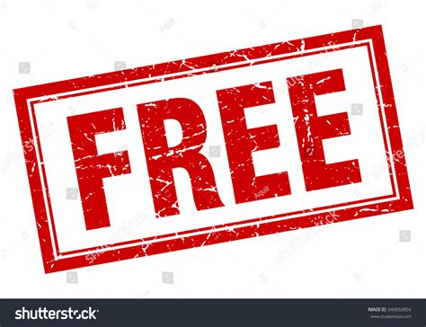signs free free square grunge st on stock vector 340650854