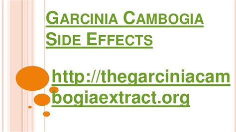 side effects of using garcinia cambogia extract reviews best flat garcinia cambogia side effects