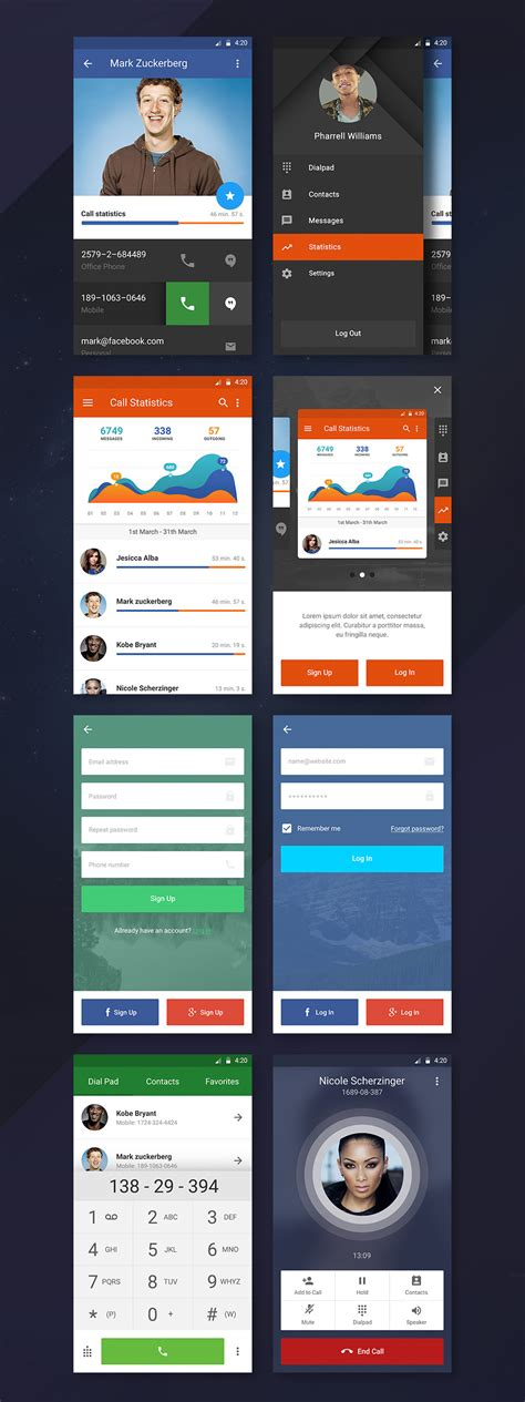 android themes ui freebie mobile ui kit psd template