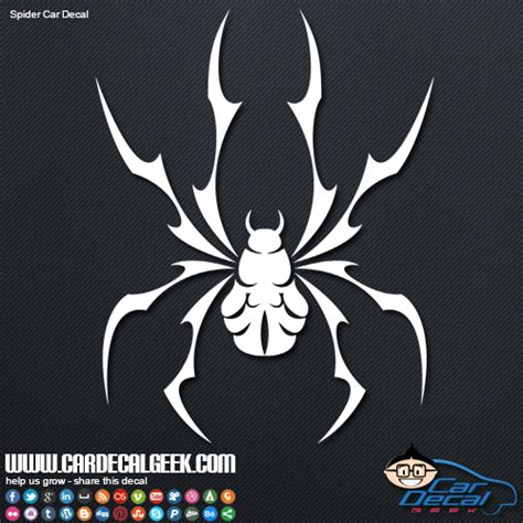 cool decals cool tribal spider vinyl car decal graphic window stickers