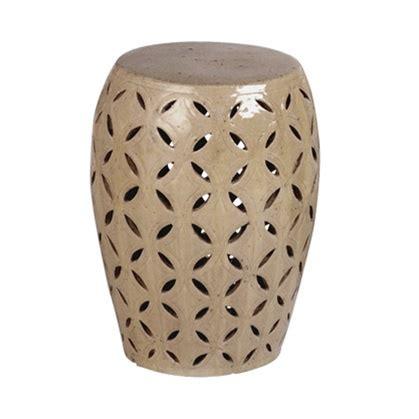 lattice garden stool small taupe glaze lattice ceramic garden stool