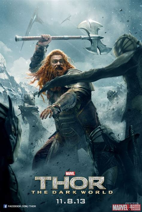 thor movie volstagg new thor 2 posters featuring zachary levi s fandral and