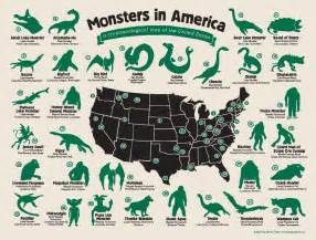 monsters in america a cryptozoological map of the united