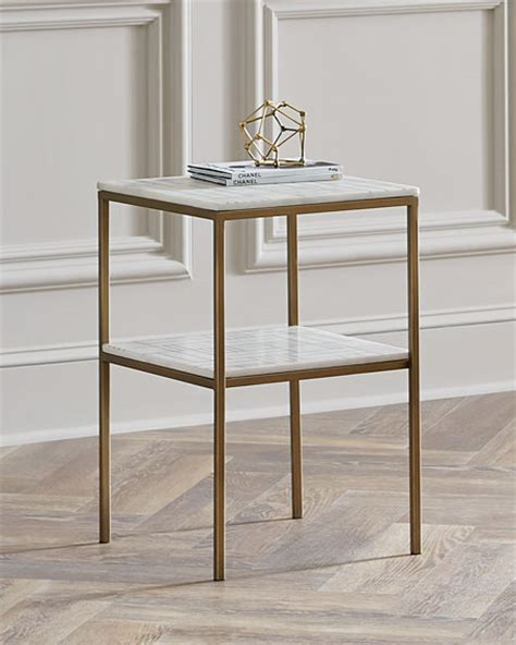 marble gold side table isaac marble side table