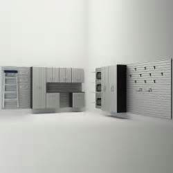 flow wall 12 garage cabinet system silver