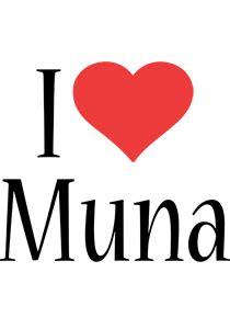 muna logo  logo generator  love love heart