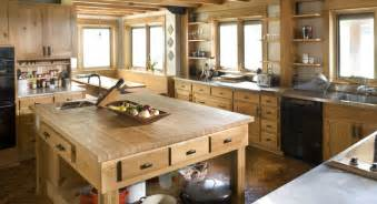 Large Kitchen Islands green dirt farm kitchen