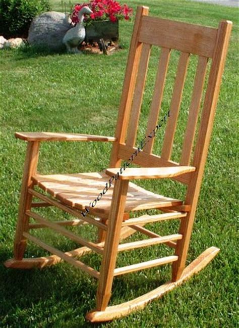 wood pattern expert rocking chair paper plans so easy beginners look like
