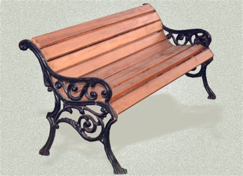 american fern and blackberry cast iron garden bench item