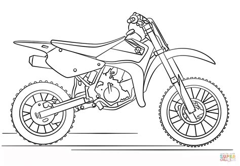 how to draw a motocross bike suzuki dirt bike coloring page free printable coloring pages