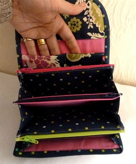 multi zippered pouch pattern accordion purse or wallet pdf instant download pattern