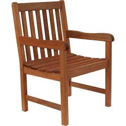Wood Patio Chair Milano Fsc Eucalyptus Wood Outdoor Chair Walmart Com