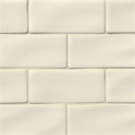 Handcrafted Tiles - antique white 3x6 glazed handcrafted subway tile