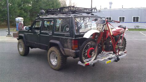 Dirt Bike Rack For Jeep by Put A Dirtbike In Your Cherookee Jeep Forum