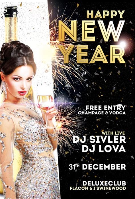 free new years flyer template happy new year free flyer template for photoshop
