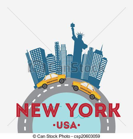 graphics design nyc nyc design over white background vector illustration