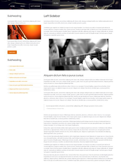 Country Music Web Template Music Website Templates Dreamtemplate Country Website Template