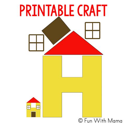 house craft for letter h worksheets activities with