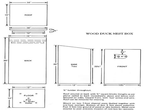 Box Wood Duck House Plans Wood Duck Box Building Plans Wood Duck Houses Plans