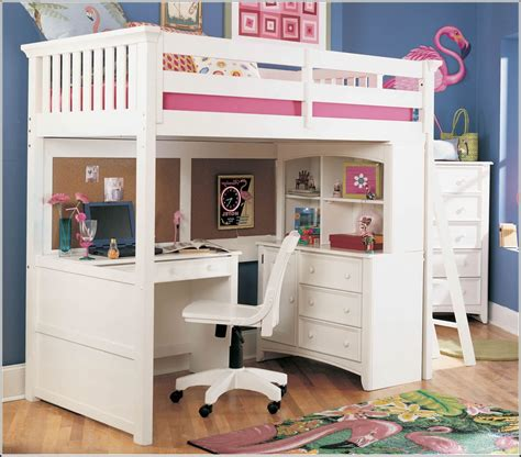 girls bunk bed with desk bunk beds with desks homesfeed