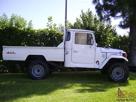 Painted Upholstery Rare Peculiar 1979 Toyota Land Cruiser Fj45 Pick Up Truck