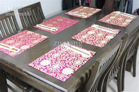 Chinese Vintage Placemats Pretty 100 Silk Fabric High Buy Dining Table Mats