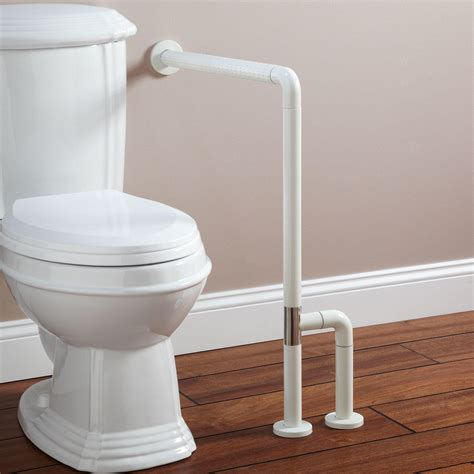bathroom bar marion wall to floor grab bar off white grab bars