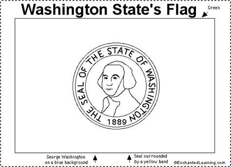 washington state flag printout enchantedlearning com