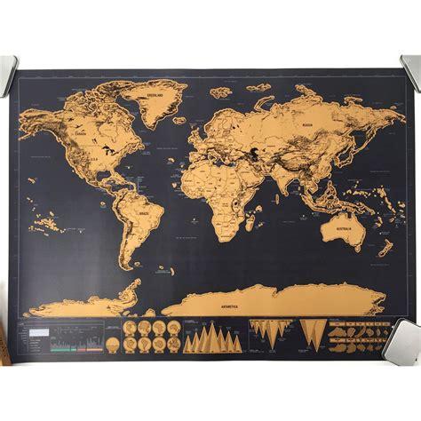 poster peta dunia hiasan dinding brown jakartanotebook