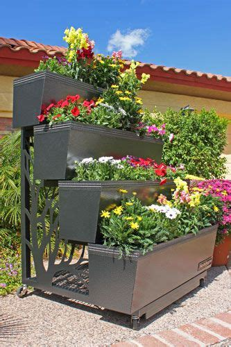 mobile gro portable four tiered planter horticulture